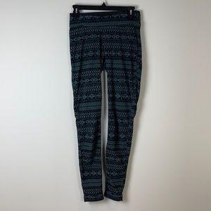 Columbia fleece Nordic print leggings size small